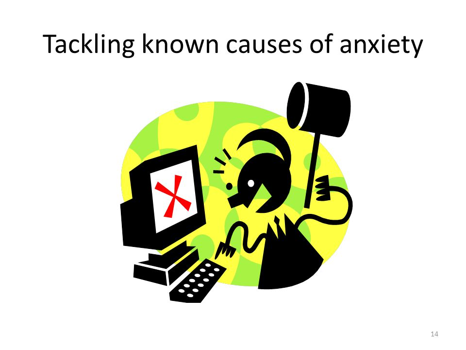 14 Tackling known causes of anxiety