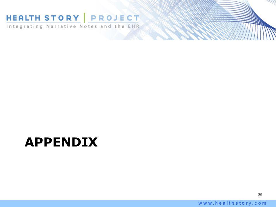 35 www.healthstory.com APPENDIX
