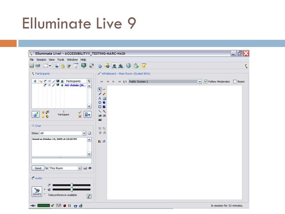 Elluminate Live 9