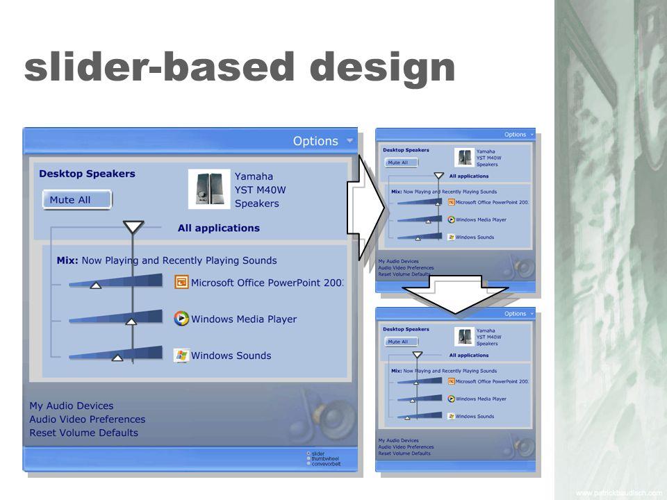 slider-based design