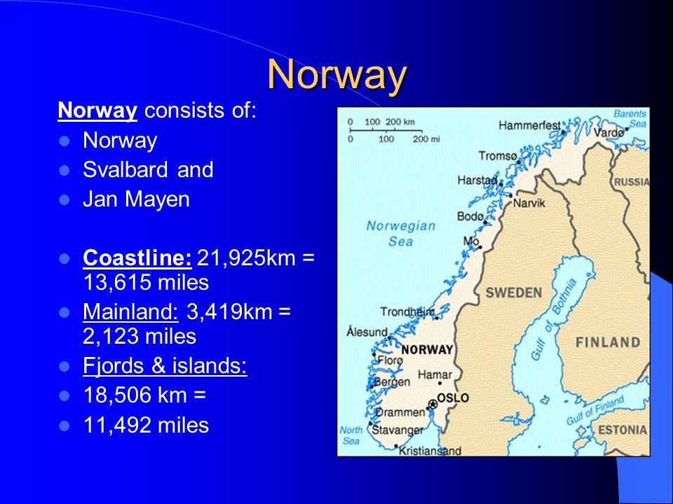 Svalbard situated straight north of Norway, east of Greenland's northern part
