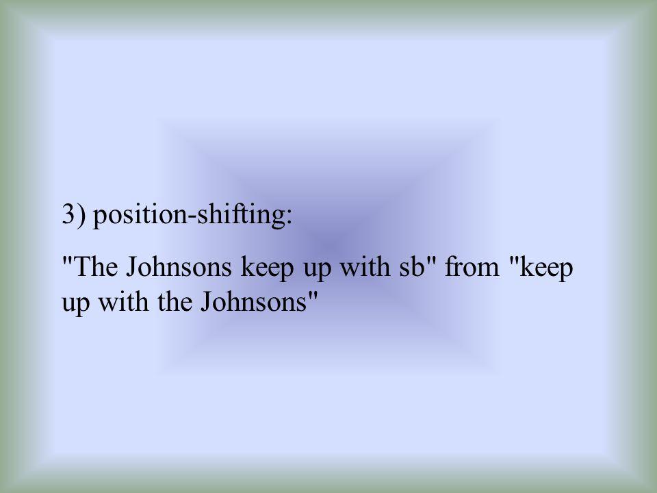 3) position-shifting: