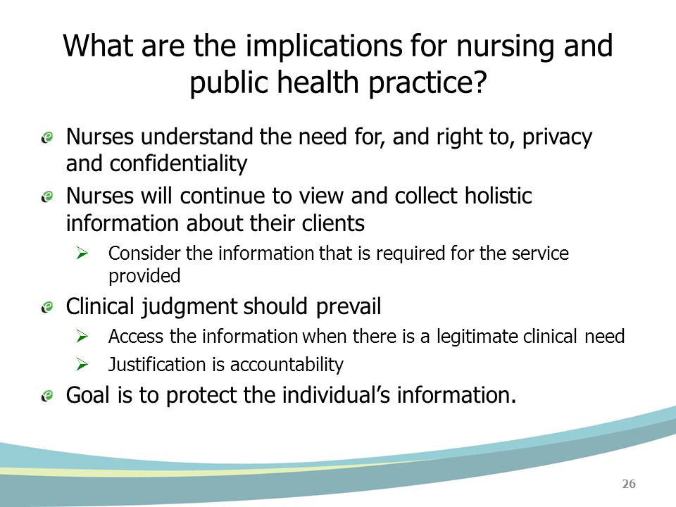 What are the implications for nursing and public health practice.