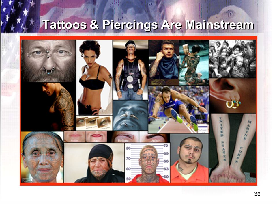 36 Tattoos & Piercings Are Mainstream
