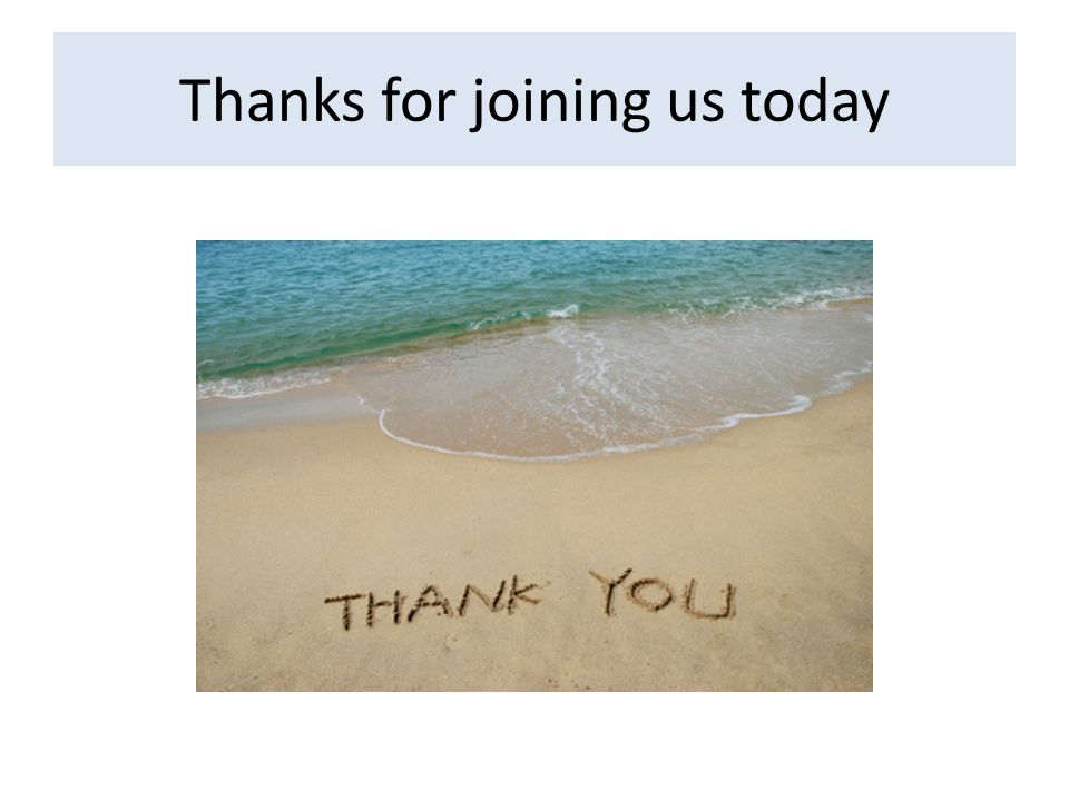 Thanks for joining us today