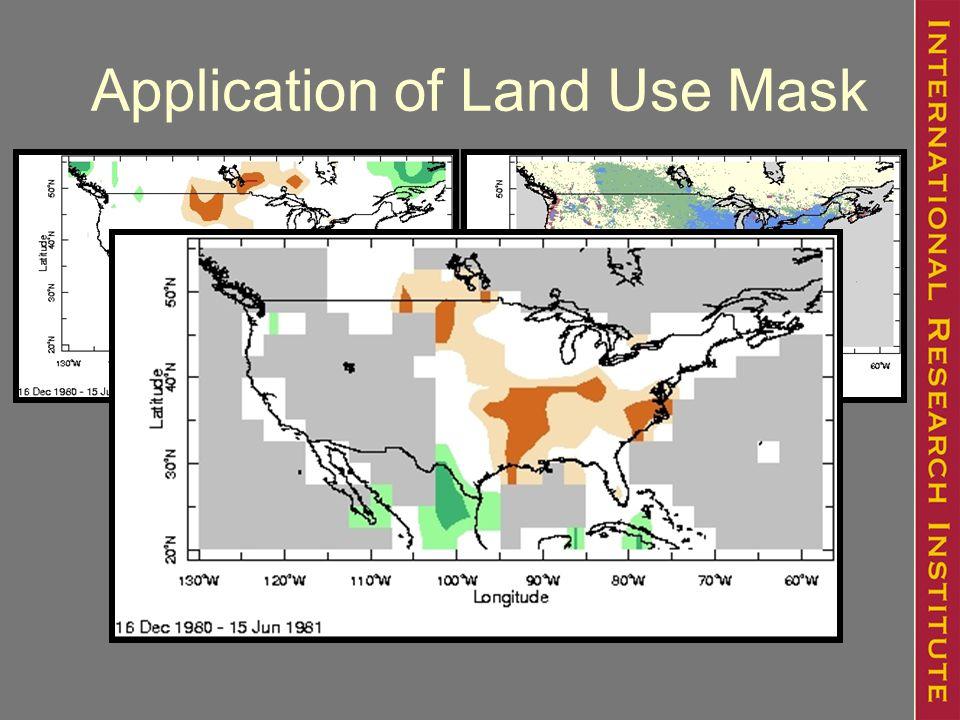 Application of Land Use Mask