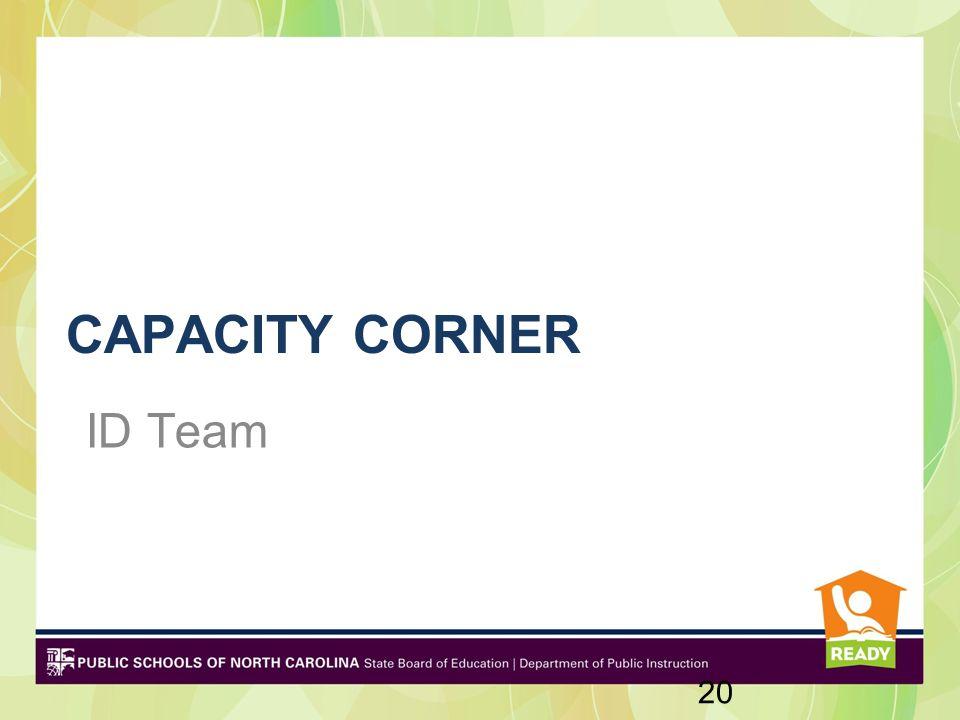 CAPACITY CORNER ID Team 20