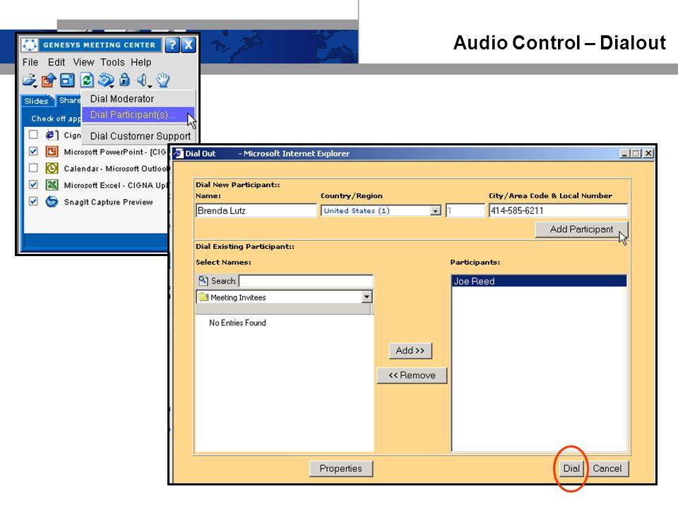 Audio Control – Dialout
