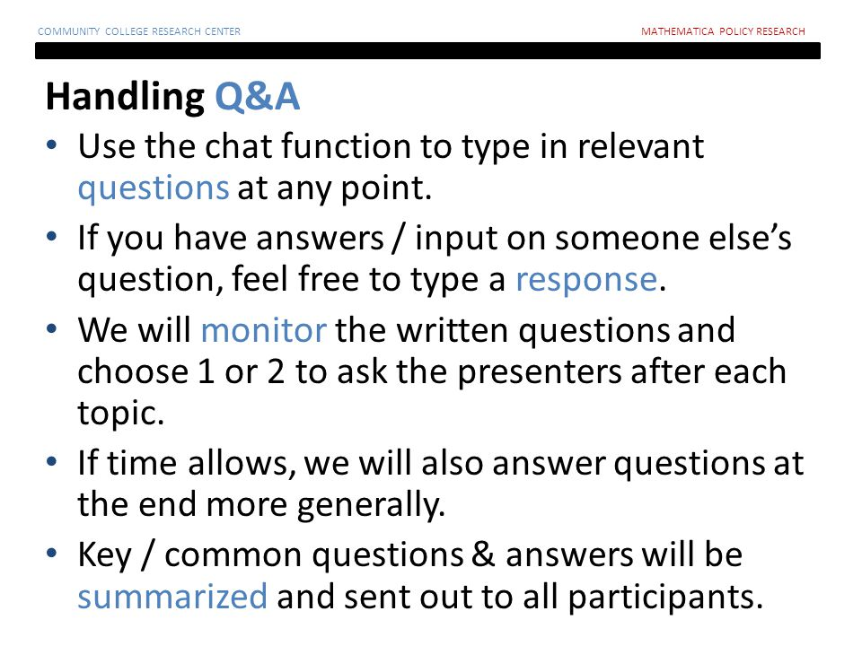 Guidelines for Preparing a Request for Proposals Ann Person Mathematica Policy Research TAACCCT Evaluation TA Webinar June 28, 2012 COMMUNITY COLLEGE RESEARCH CENTERMATHEMATICA POLICY RESEARCH