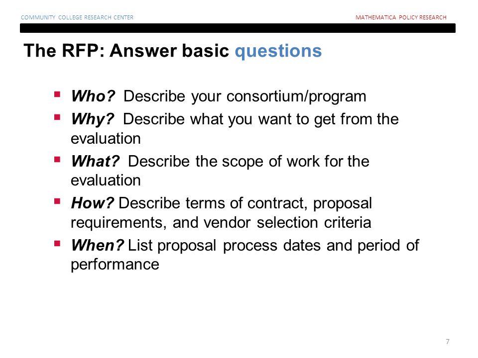  Who. Describe your consortium/program  Why.
