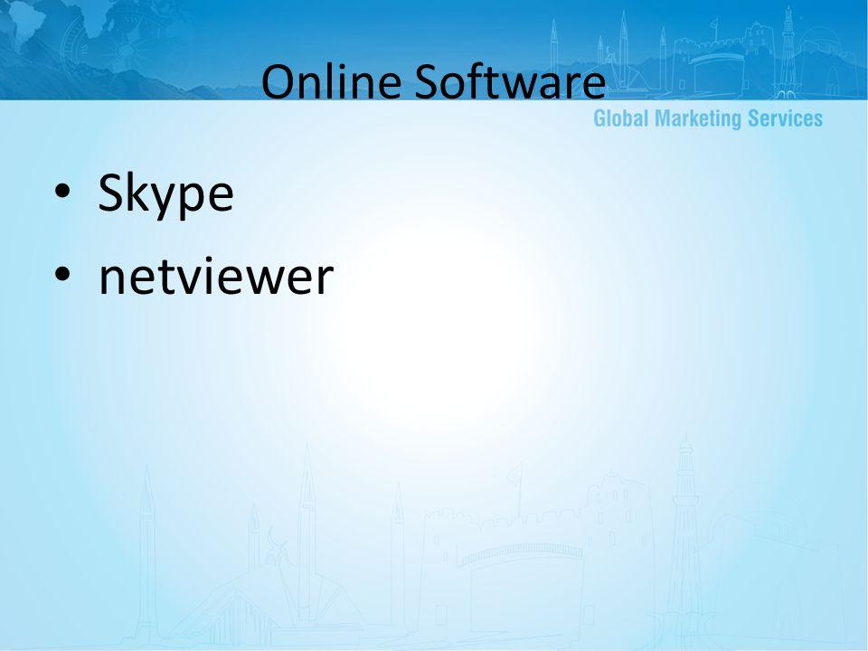 Online Software Skype netviewer