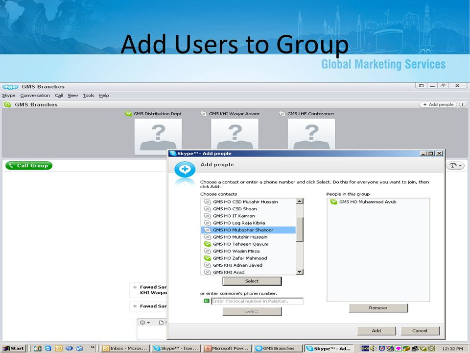 Add Users to Group