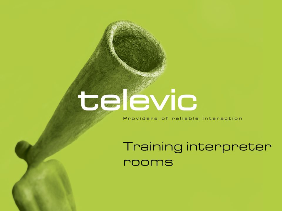 Training interpreter rooms