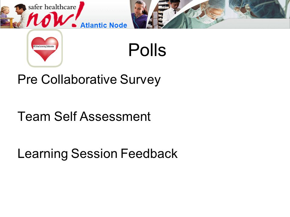 Polls Pre Collaborative Survey Team Self Assessment Learning Session Feedback Atlantic Node