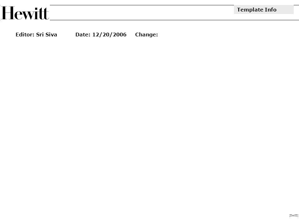 [DocID] Editor: Sri SivaDate: 12/20/2006Change: Template Info