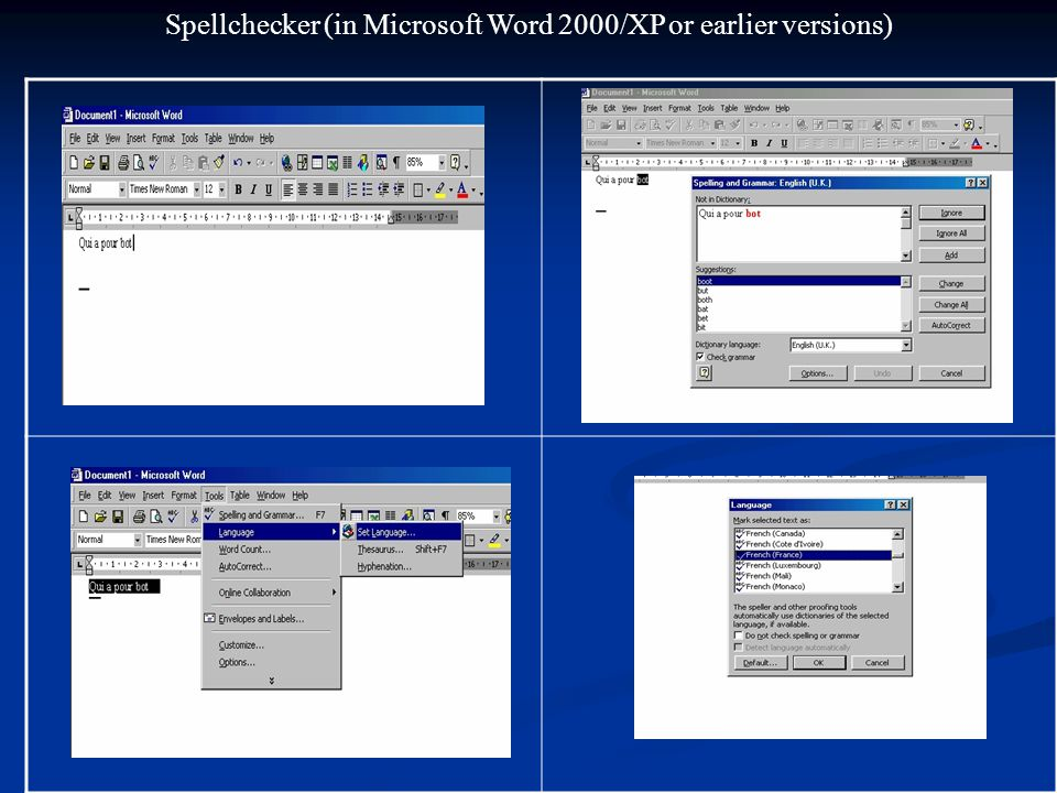 Putting in French Accents (in Microsoft Word)
