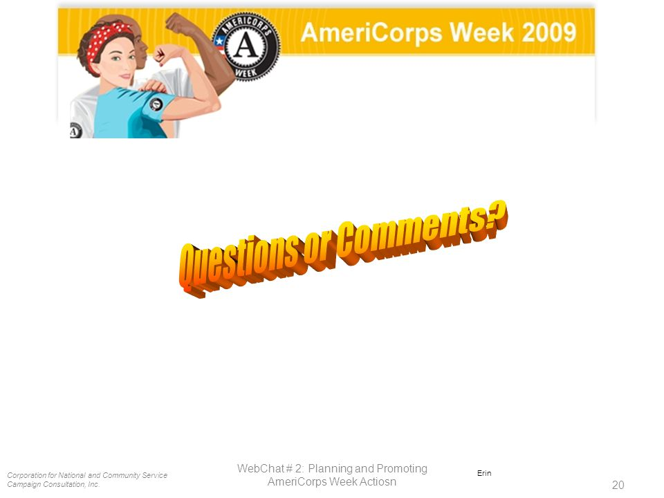 Corporation for National and Community Service Campaign Consultation, Inc.
