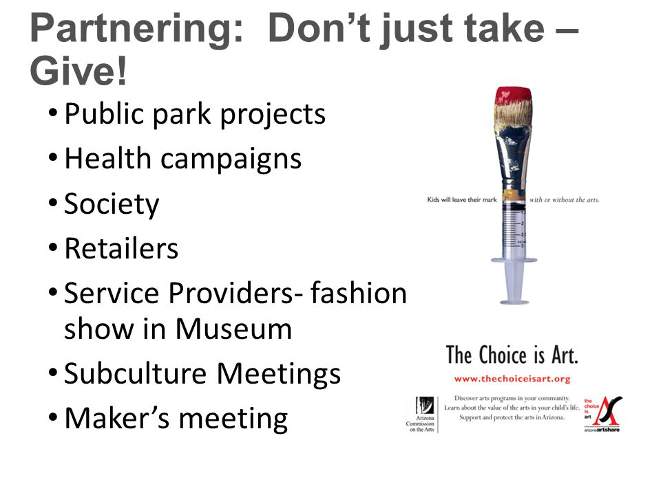 Partnering: Don't just take – Give.
