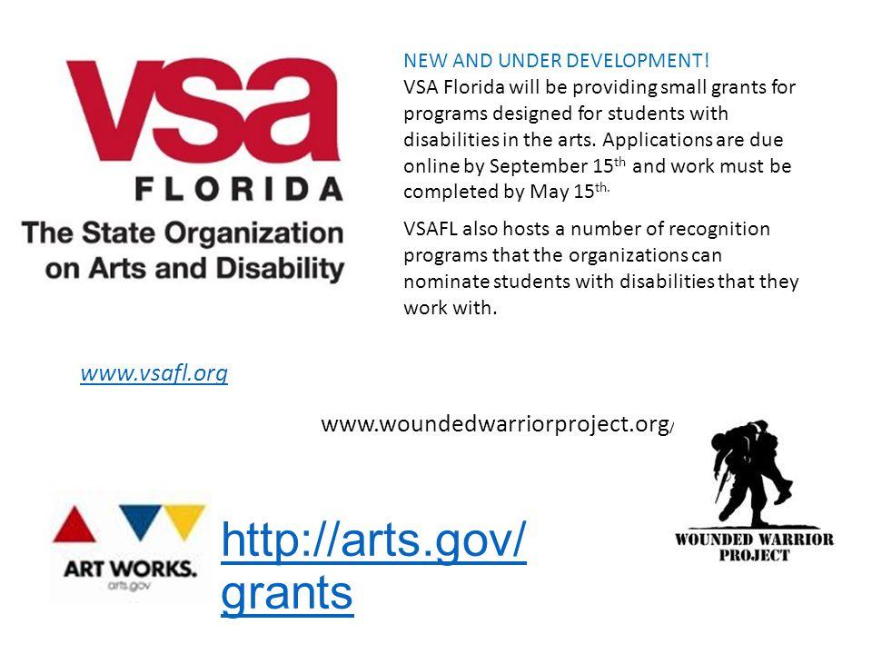 http://arts.gov/ grants NEW AND UNDER DEVELOPMENT.