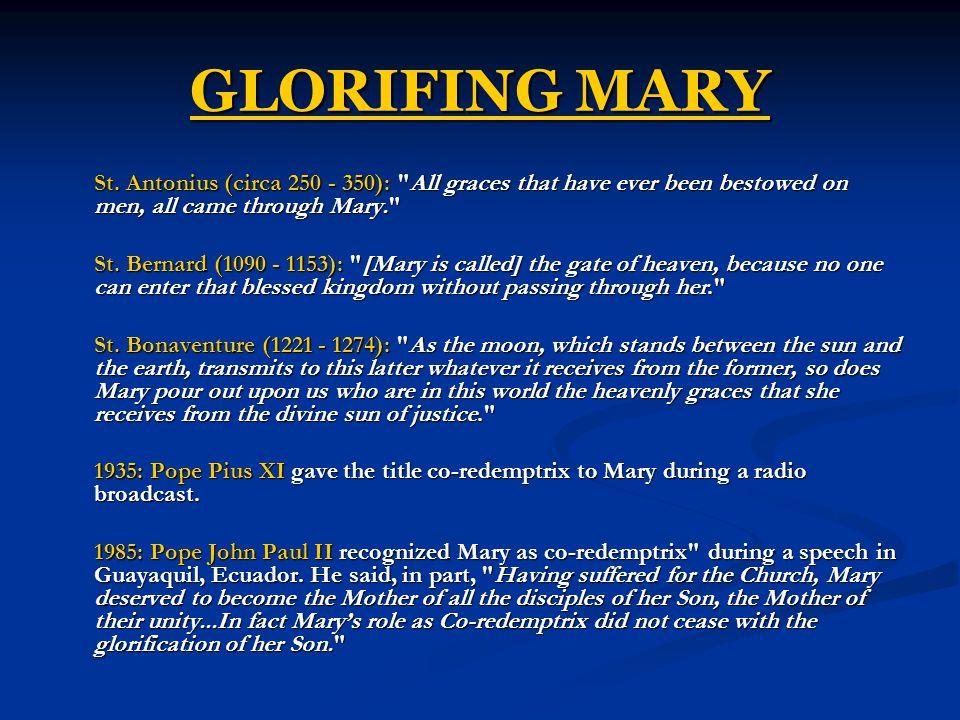 GLORIFING MARY St.