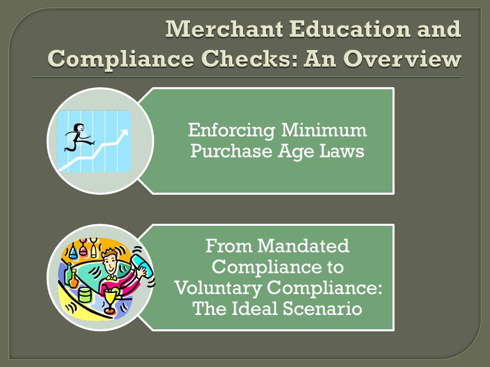 Enforcing Minimum Purchase Age Laws From Mandated Compliance to Voluntary Compliance: The Ideal Scenario