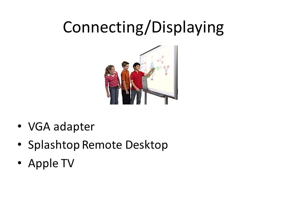 Connecting/Displaying VGA adapter Splashtop Remote Desktop Apple TV