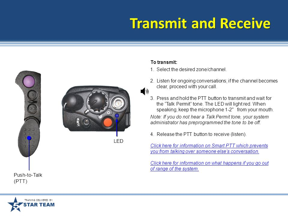 TRAINING DELIVERED BY: Time-out Timer The time-out timer turns off your radio's transmitter.