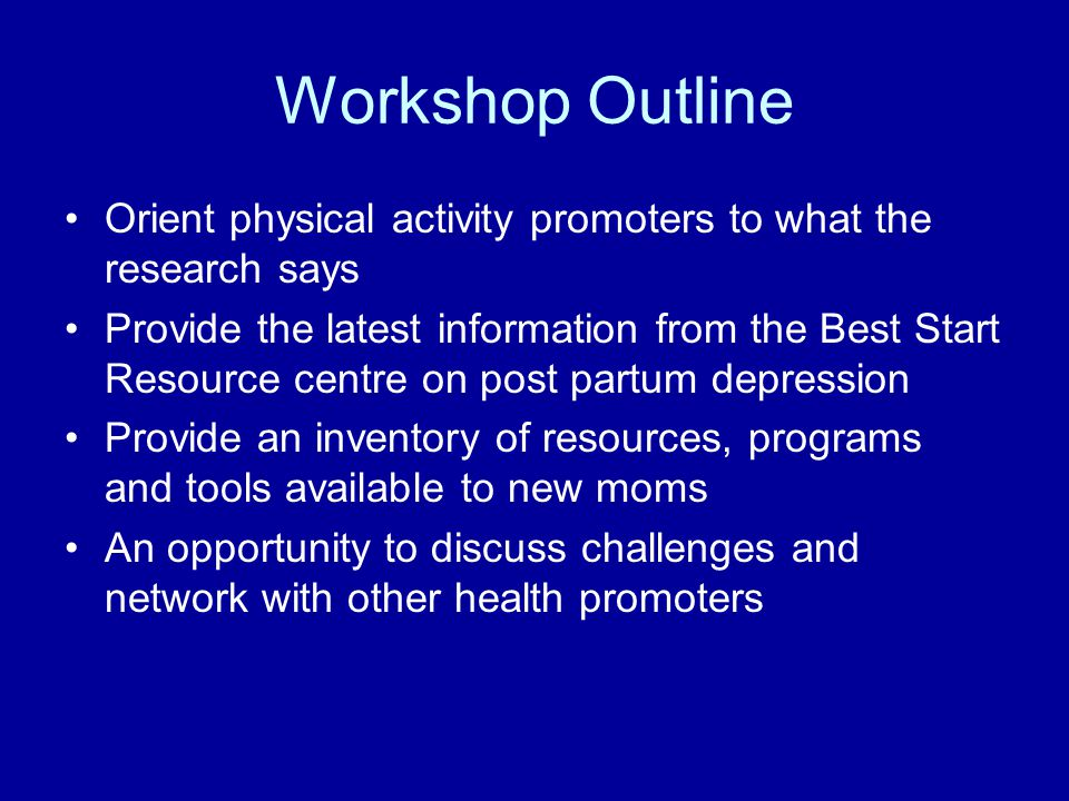 PPMD – Self-Care Strategies Developing realistic expectations of motherhood Developing a good social support network Adequate sleep and rest Good nutrition Physical activity Social interaction