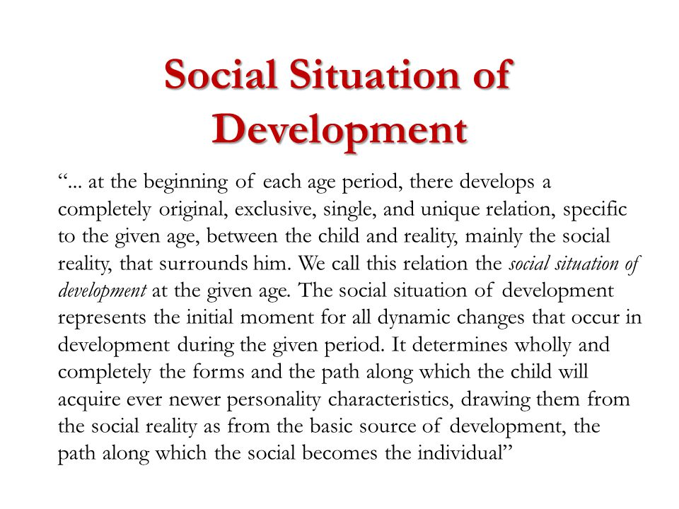 Social Situation of Development ...