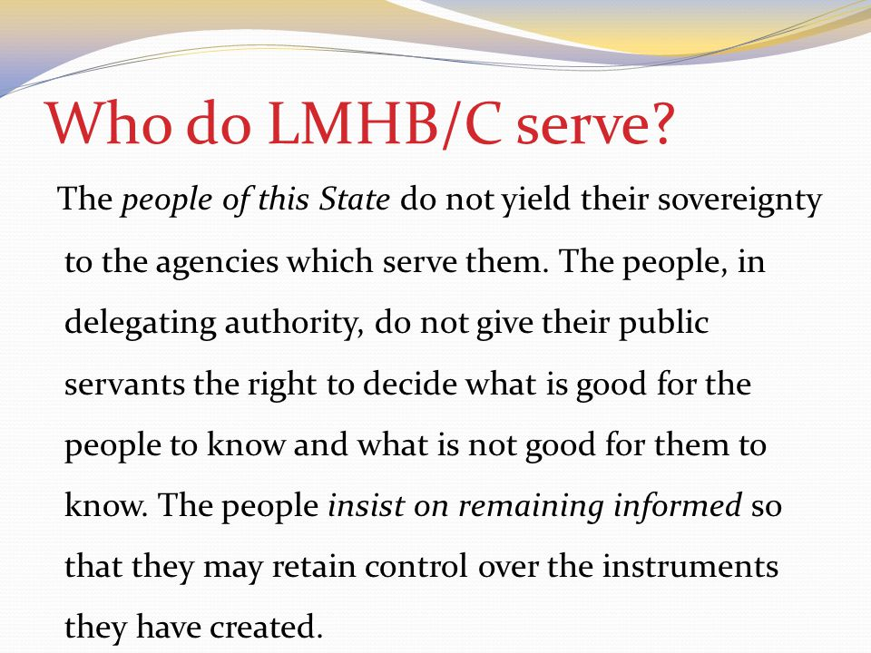 Who do LMHB/C serve.