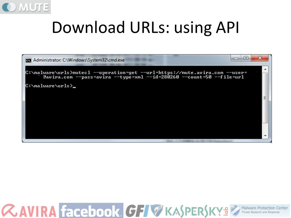 Download URLs: using API