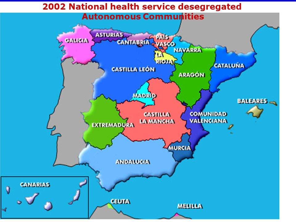 2002 National health service desegregated Autonomous Communities