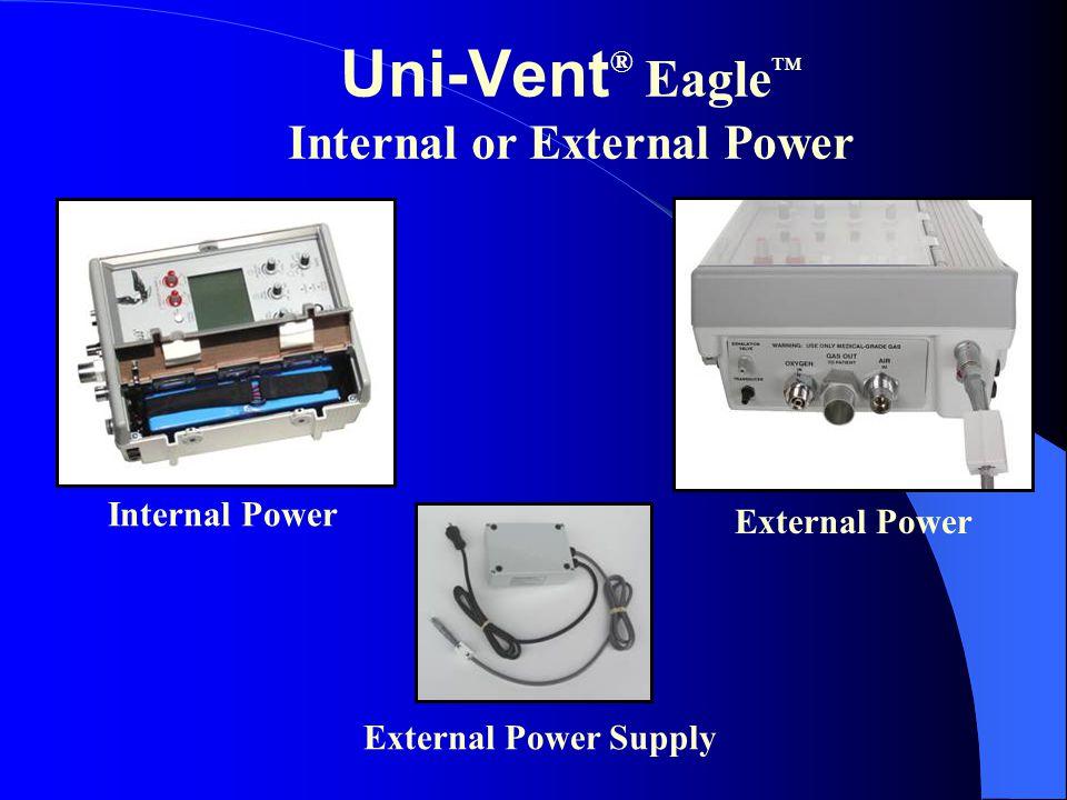 External Power Uni-Vent ® Eagle ™ Internal or External Power Internal Power External Power Supply