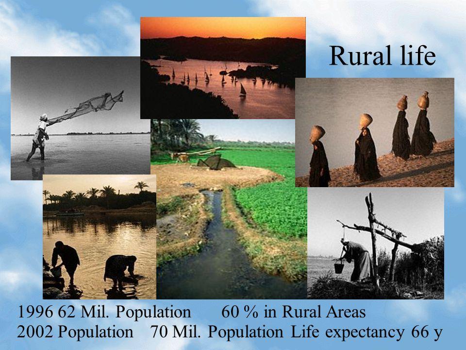 Rural life 1996 62 Mil. Population 60 % in Rural Areas 2002 Population 70 Mil. Population Life expectancy 66 y