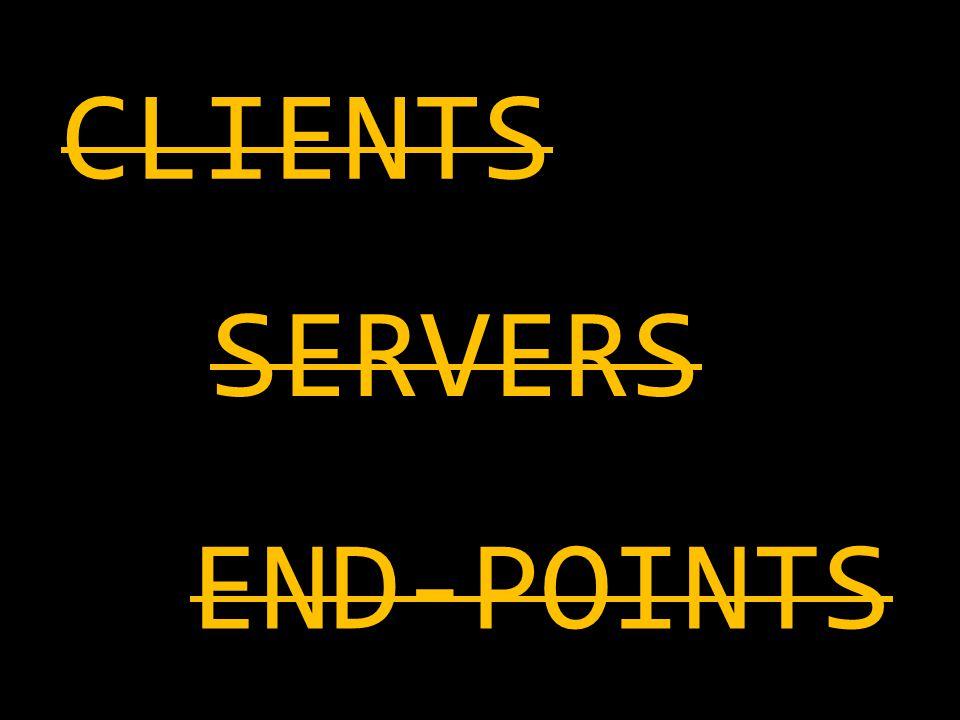 CLIENTS SERVERS END-POINTS