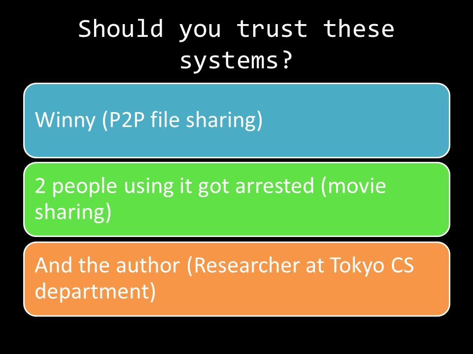 Should you trust these systems.