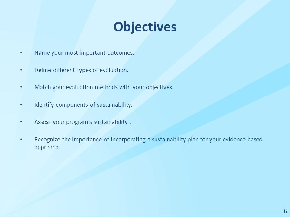 Sample 1: Evaluation Worksheet