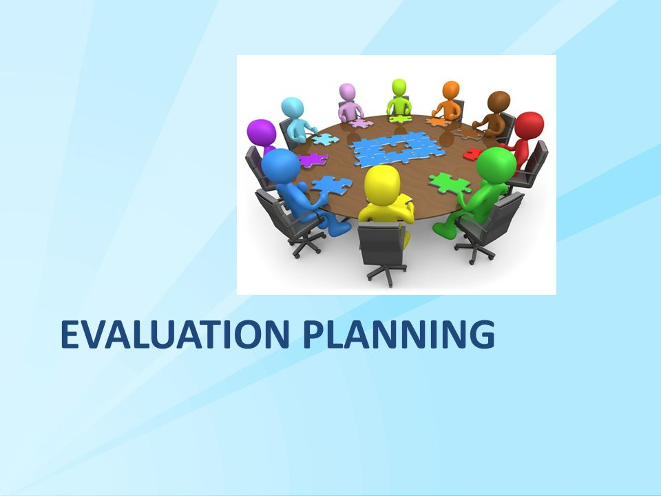 Evaluation Planning: Evaluation Phases and Types  Process evaluation Are all activities being implemented as planned.