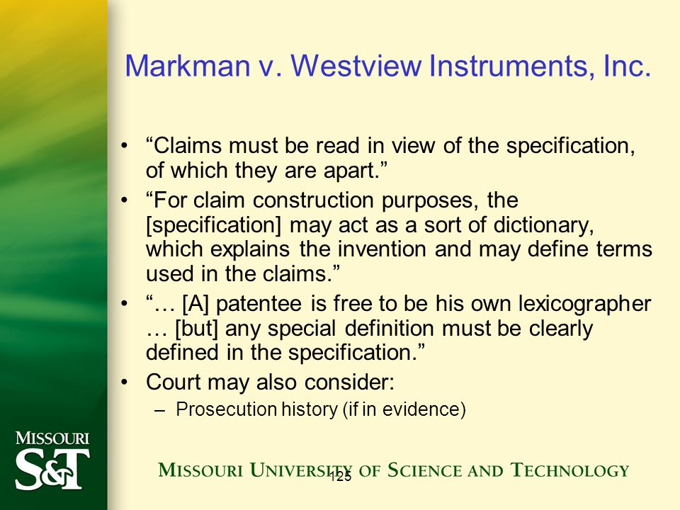 125 Markman v. Westview Instruments, Inc.