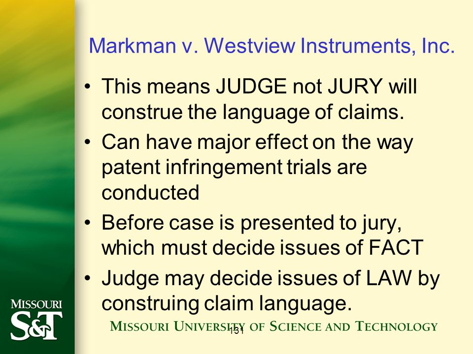 131 Markman v. Westview Instruments, Inc.