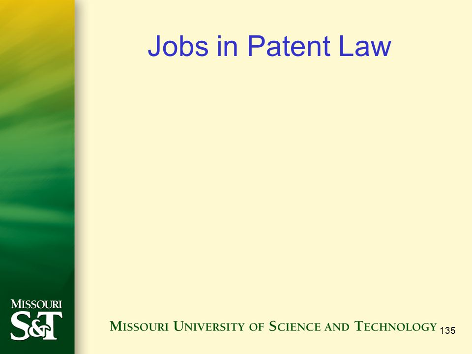 135 Jobs in Patent Law