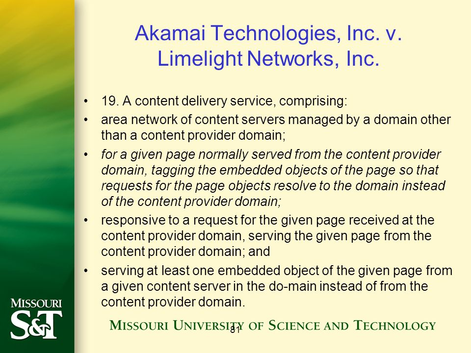 Akamai Technologies, Inc. v. Limelight Networks, Inc.