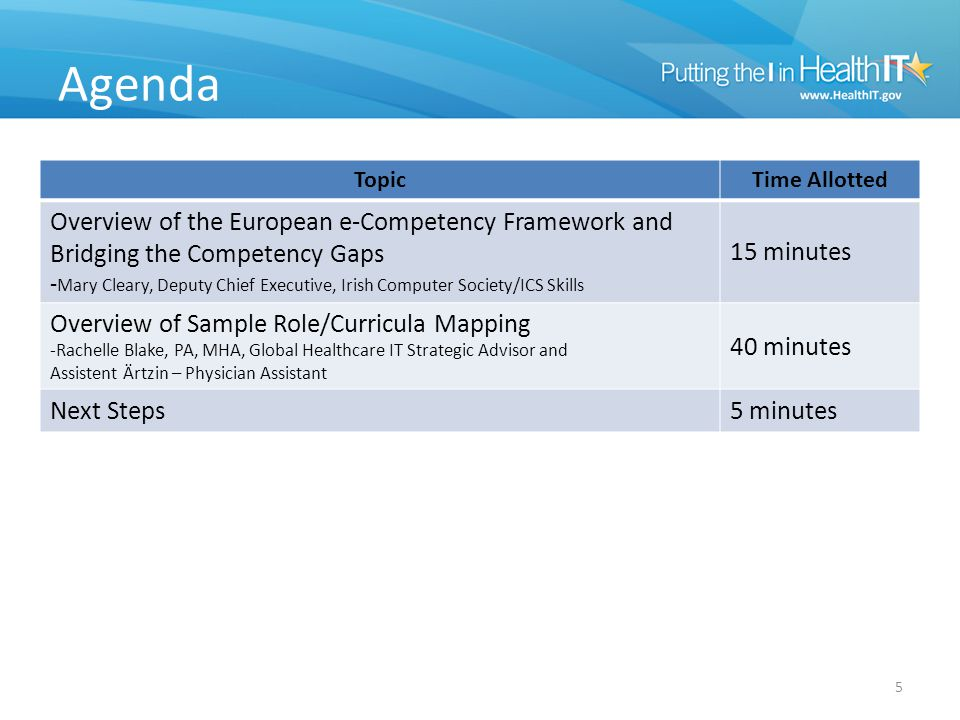 e-Competency Framework & Bridging the Competency Gaps 6 Mary Cleary will provide an overview of the European e-Competency Framework and then discuss bridging the competency gaps