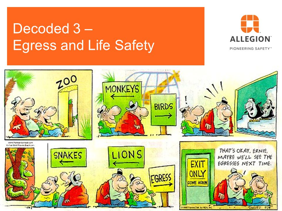 101 | Decoded 3 – Egress and Life Safety Homework Find at least one non-compliant egress door.