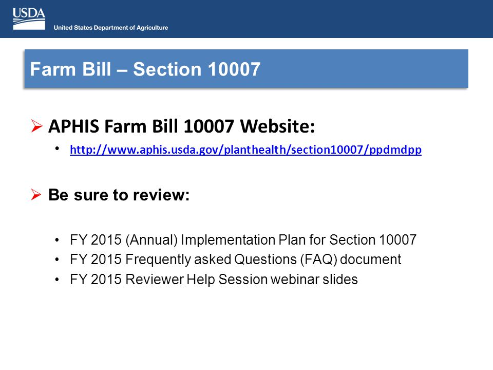 Contacts Group Email: farmbillsection10007@aphis.usda.govfarmbillsection10007@aphis.usda.gov