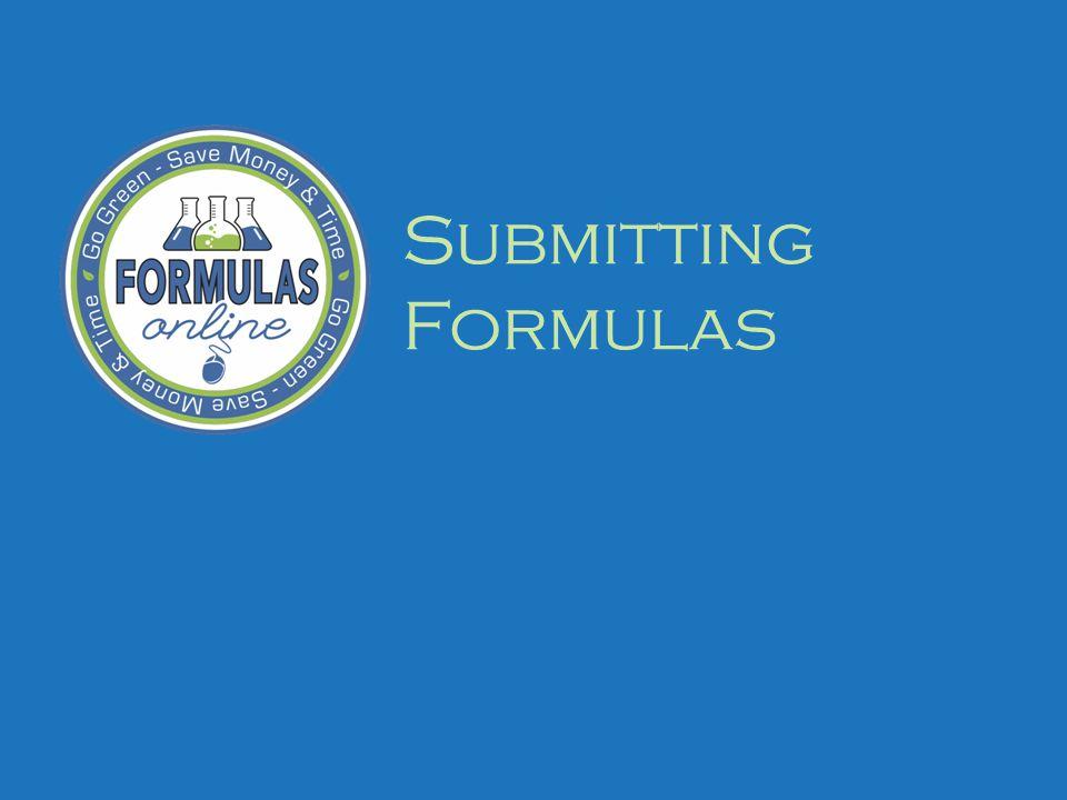 Submitting Formulas