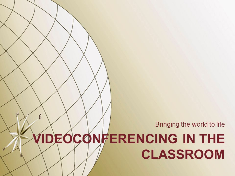 Interactive Videoconferencing Videoconferencing in the classroom is an interactive process.