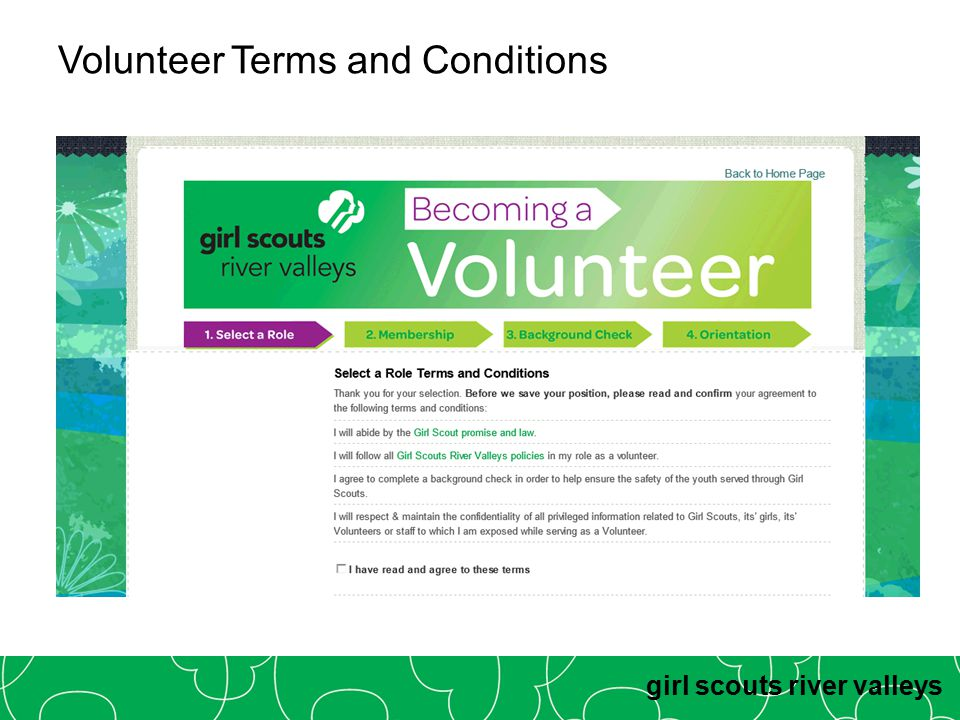 girl scouts river valleys Volunteer Terms and Conditions