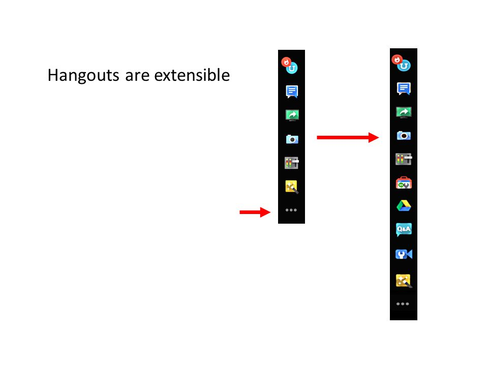 Hangouts are extensible