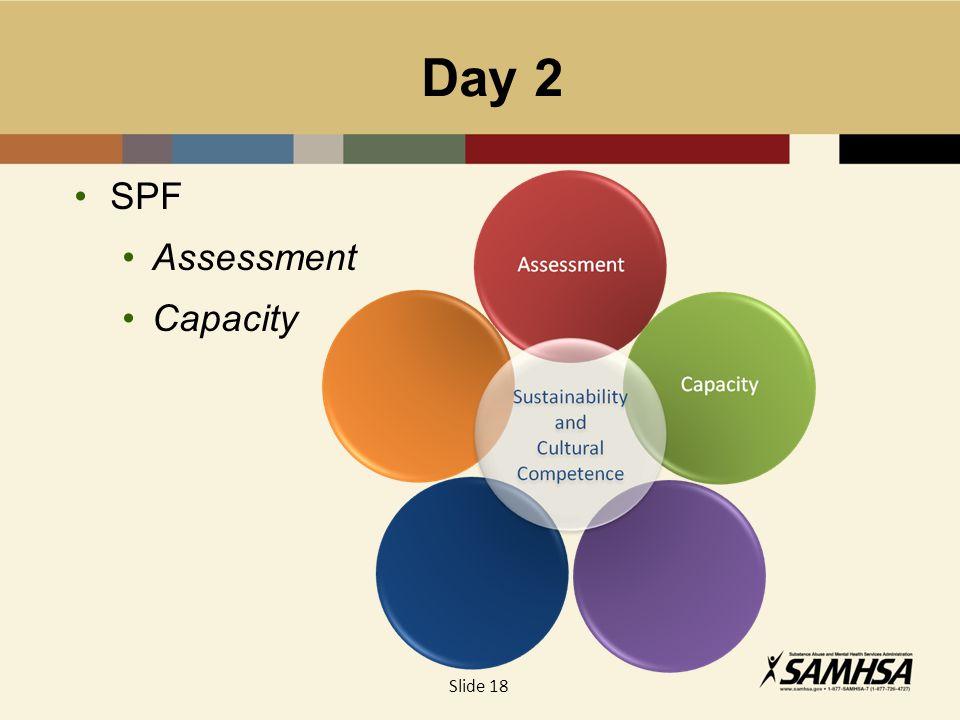 Day 2 SPF Assessment Capacity Slide 18